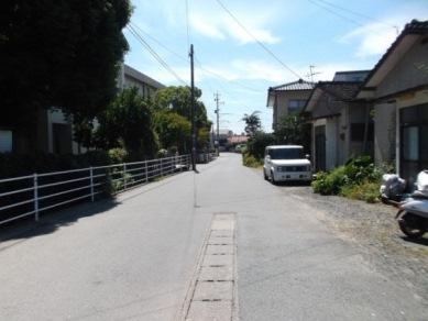 託麻中正門前(熊延鉄道跡)