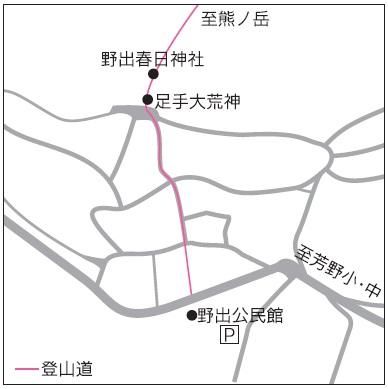熊ノ岳位置図