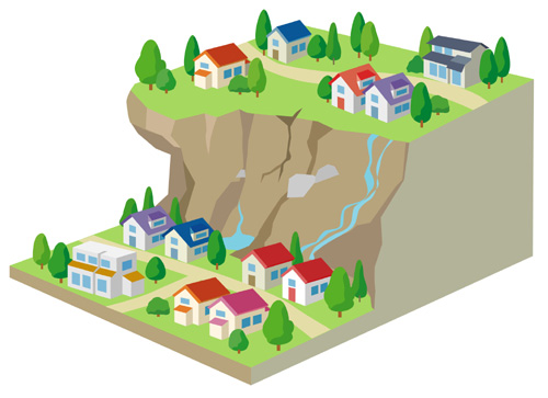 土砂災害危険地域イメージ