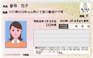 個人番号カード 表