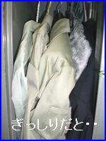 服を詰め込んだクローゼットのイメージ。服と服がくっついたところは防虫剤が行きわたりません。