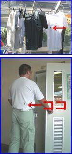 カツオブシムシが入り込んだ洗濯物のイメージ。洗濯物は取り込む前によくはたきましょう。
