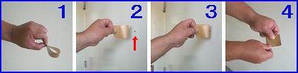 室内にカメムシが入ったときの対応イメージ。慎重にそっとカメムシをくっつけてください。