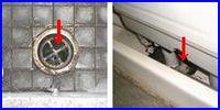 ゴキブリ対策の写真。排気口にはネットをしましょう。