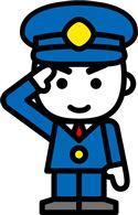 男性消防職員 敬礼