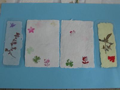 紙すき(はがき・しおりの例)