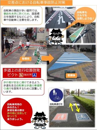 走行位置啓発・交差点自転車事故防止