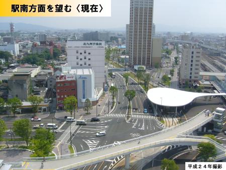 駅南方面を望む現在の写真