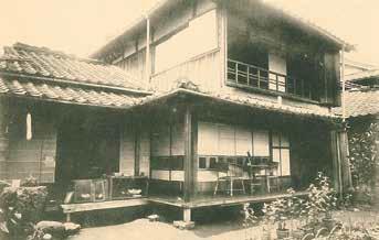 井川淵の家(漱石写真帖より)