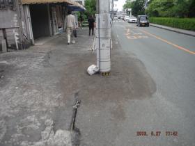 電柱の沈下及び噴砂