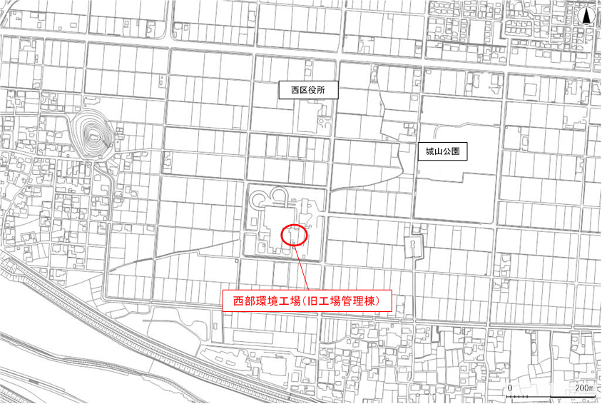 西部環境工場位置図