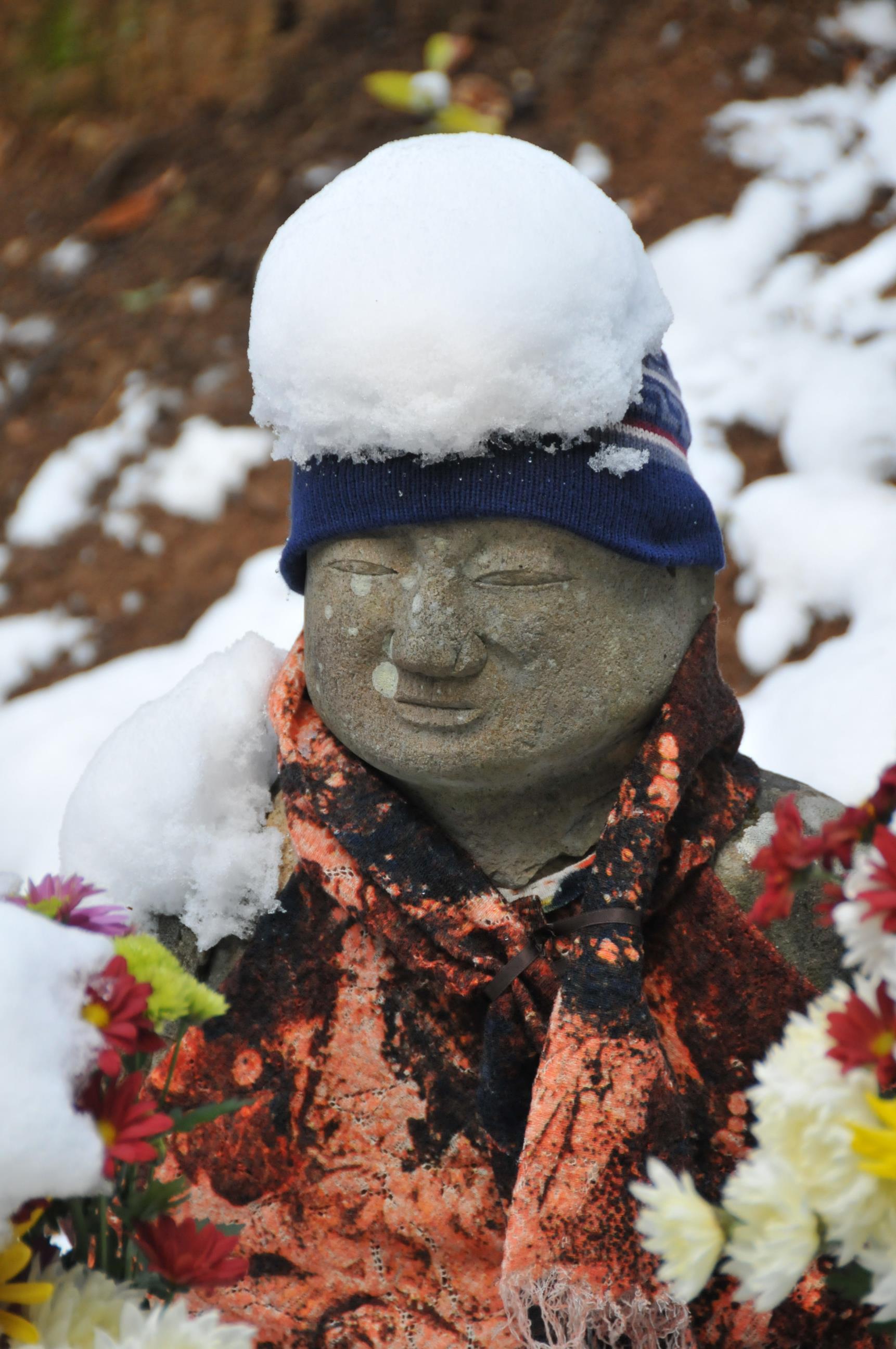 雪帽子の五百羅観様