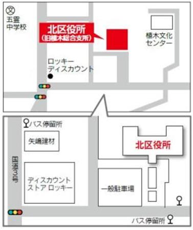 北区役所周辺地図