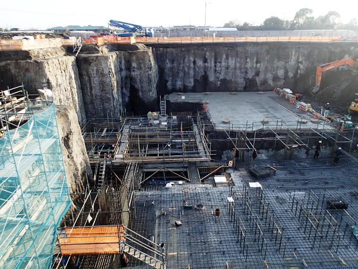 工場棟灰ピットコンクリート基礎工事
