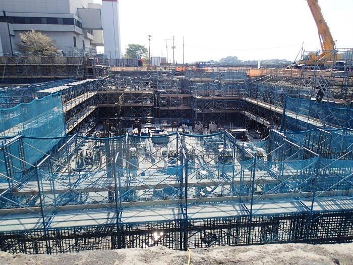 工場棟地下基礎等工事状況(3月)