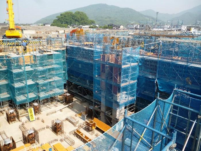 工場棟地下基礎等工事状況(5月)