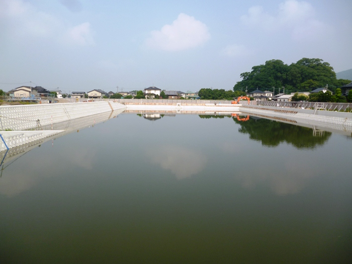 湛水調整池工事