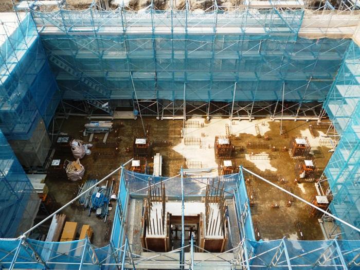 工場棟地下基礎等工事状況(6月)