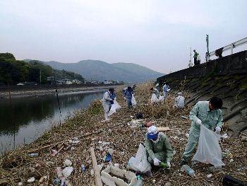 坪井川一斉清掃