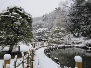 冬の回遊式泉水庭園