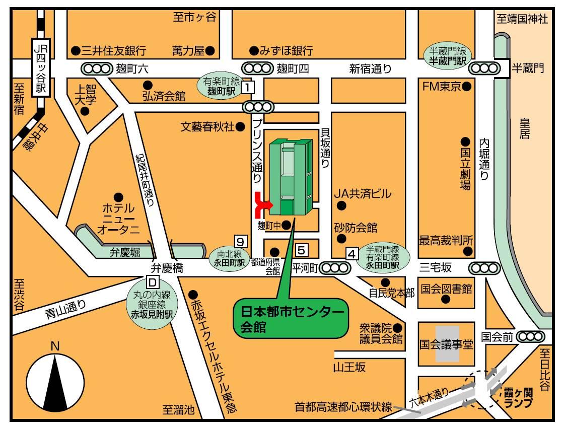 熊本市東京事務所地図
