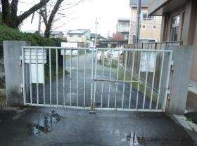 施工前 裏門の門扉