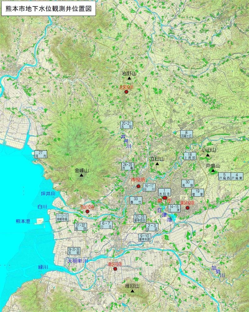 観測井位置図
