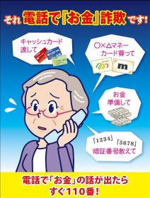 電話で「お金」詐欺です!