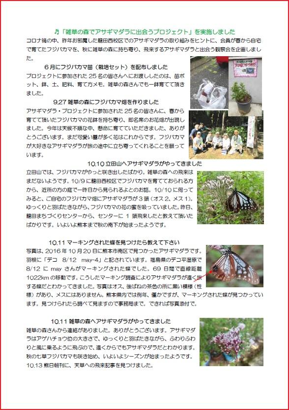 立田山自然探検隊ニュース(アサギマダラプロジェクト)(1)