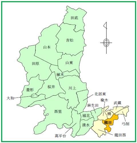 面積図)龍田