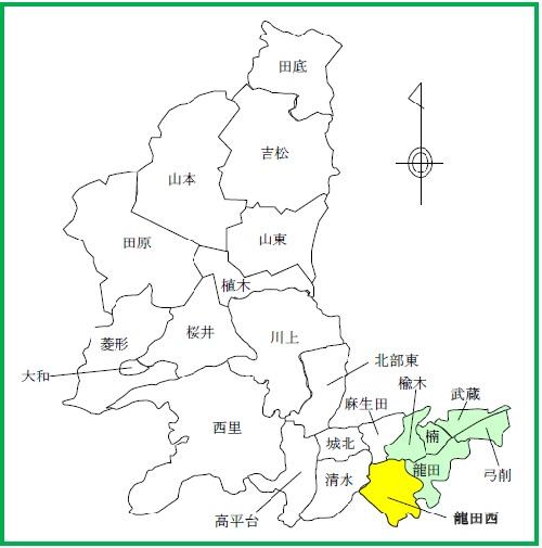 13(龍田西)配置図