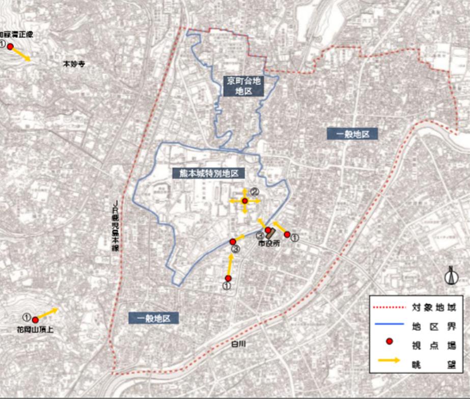 熊本城周辺地域