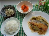 鮭と野菜のみそチーズ焼き
