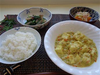 カレーミルク豆腐
