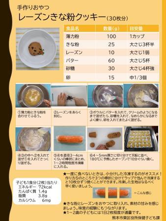 レーズンきな粉クッキー(レシピ)