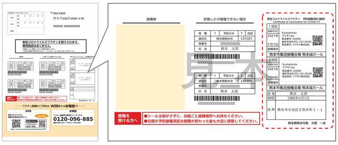 熊本市の接種済証のイメージ