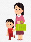 買い物親子 縮小