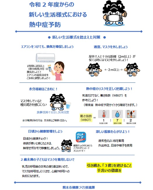 令和2年度の熱中症予防チラシ