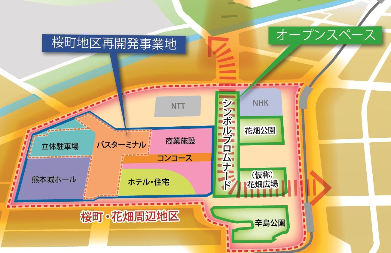 熊本城ホール位置図