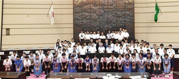 子ども議会 集合写真