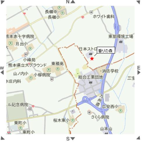 香りの森地図