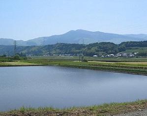 白川中流域での水田湛水