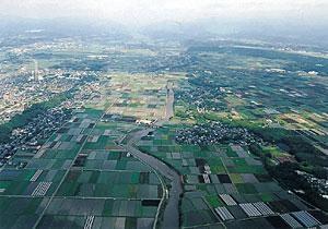 The middle basin of the Shirakawa River